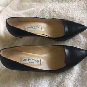 Jimmy Choo Black Kitten heels